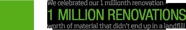 Celebrating 1 Million Renovations